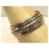 Sterling Silver Spinner ring - size 10