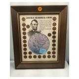 Framed Lincoln Memorial Coin Set with info