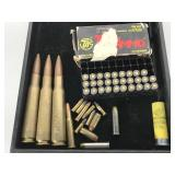Lot of assorted ammo - 29 rounds 380, 50 Cal