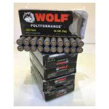 100 Rounds .223 Rem Wolf Ammo - 55Gr. FMJ