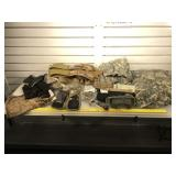 Lot of military clothing, cleaning kit, goggles