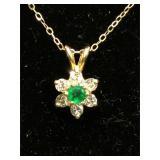 """14k Gold diamonds Necklace 16"""""""