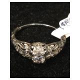 18K White Gold Ring 3.9mm diamond