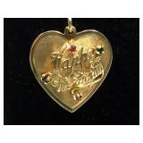 "14K Gold heart ""Happy Birthday"" Pendant"