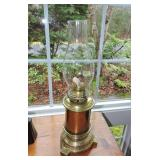 19th C. Deluxe Polished Brass Kerosene Lamp