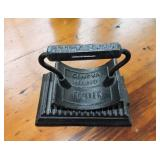C. 1886, Cast Iron Geneva Hand Fluter & Base