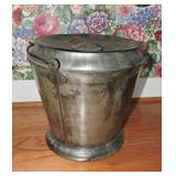 Antique Tin Vented Slop Bucket