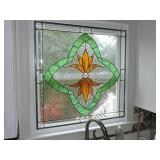 Vintage Hanging Stained Glass Window