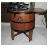 19th C. Wooden Anchor-Style Washing Machine