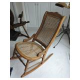 19th C. Oak Cane Rocking Chair