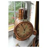 Antique Copper Nautical Lantern/Clock