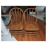 Vintage Windsor Back Side Chairs - Set of 6