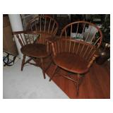 Vintage  S. Bent & Brothers Windsor Armchairs