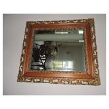 Vintage Wood Guilded Wall Mirror