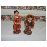 Vintage Pair of Korean Resin Figures