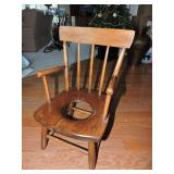 Vintage Wood Potty Chair