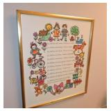 "Framed Poem, ""Children Learn What They Live"""