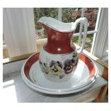 Vintage Ironstone Washbowl & Pitcher