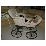 Antique Wicker Baby Carriage