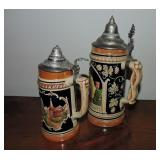 Collection of 2 Vintage Beer Steins