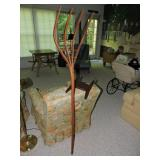 Primitive Wooden Pitchfork & Rope Winder