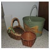Collection of Decorative Baskets & Bucket