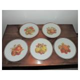 Collection of Vintage Decorative Fruit Plates