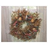 Decorative Dried Flower Wreath