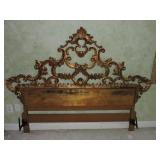 Vintage Louis XIV -Style Gilded Headboard