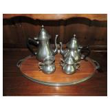 Vintage Royal Holland Coffee Set w/ Tray