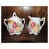 Vintage German Porcelain Cream & Sugar