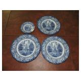 Set of Liberty Blue Historical Plates