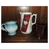Assorted Porcelain & Ceramic Pitchers & Crock