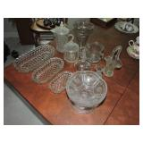 Collection of Assorted Cut and Pressed Glass