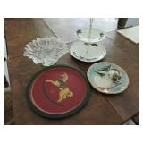 Assorted Christmas Platters and Serving Ware