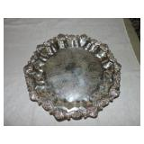 Vintage Sheridon Silverplated Footed Platter
