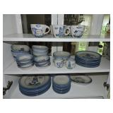 Vintage M. A Hadley Partial China Set of 51