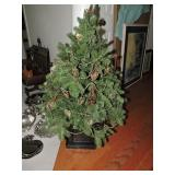 Vintage Faux Pine Tree In Planter