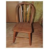 Vintage Childrens Wooden Chair