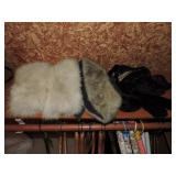 Assorted Fur Muffs; Head Wrap & Stoles