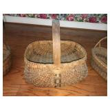 19th C. Woven Buttocks Basket