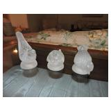 Barolac Weil Frosted Art Glass Bird Figurines