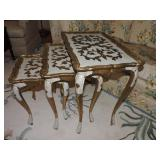 Vintage Italian Gold Florentine Nesting Tables