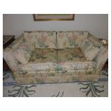 Pair of Heritage NC Upholstered Loveseats