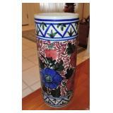 Vintage Spanish Ceramic Umbrella Stand