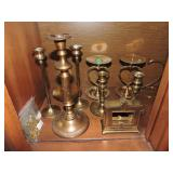 Collection of Cast Brass Items
