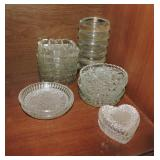 Collection of Glass Coasters & Votives