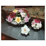 Vintage Staffordshire & Aynsley Porcelain Flowers