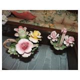 Vintage Capodimonte Porcelain Candleholder