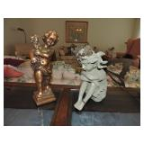 Vintage Gilded Putti & Composite Fairy